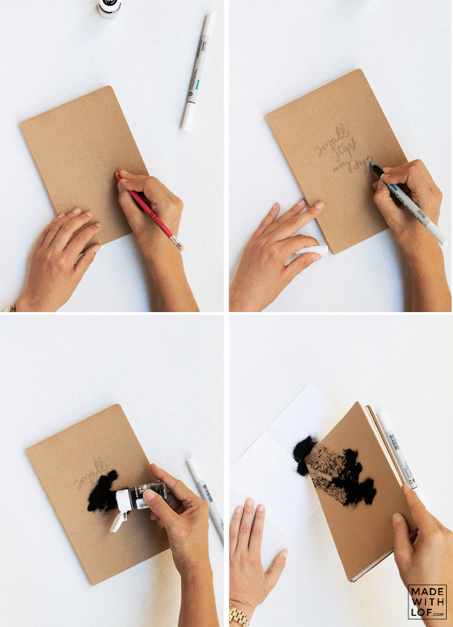 Cómo decorar con embossing y lettering